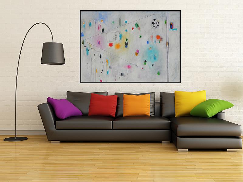 velika apstrakcija ranko ajdinović, moderna slika na platnu